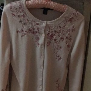 Floral & Beaded Cardigan